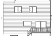 Modern Style House Plan - 3 Beds 1.5 Baths 1680 Sq/Ft Plan #23-2702 Exterior - Rear Elevation