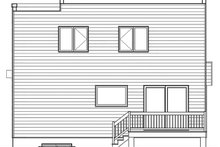Modern Exterior - Rear Elevation Plan #23-2702