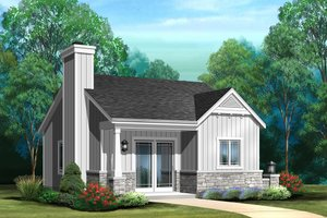 House Design - Cottage Exterior - Front Elevation Plan #22-608