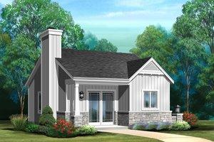 Cottage Exterior - Front Elevation Plan #22-608