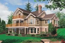 Dream House Plan - Rear view - 3150 square foot craftsman home