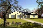 Adobe / Southwestern Style House Plan - 4 Beds 2 Baths 1843 Sq/Ft Plan #1-699 Exterior - Front Elevation