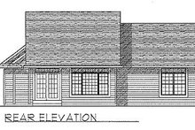 Dream House Plan - Traditional Exterior - Rear Elevation Plan #70-130