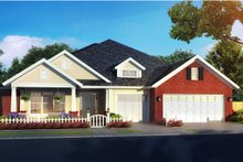Architectural House Design - Craftsman Exterior - Front Elevation Plan #513-2168