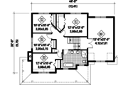 Country Style House Plan - 4 Beds 1 Baths 2164 Sq/Ft Plan #25-4420 Floor Plan - Upper Floor Plan