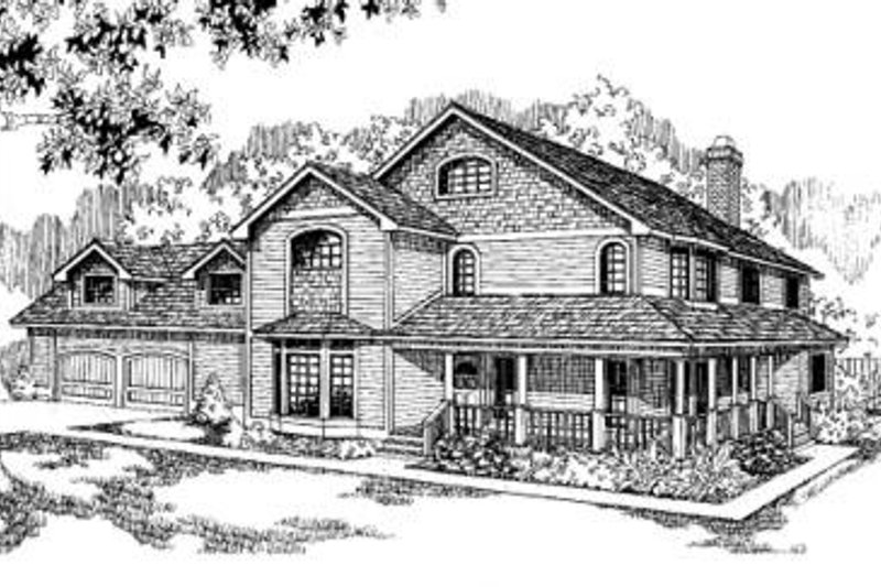 Country Exterior - Front Elevation Plan #60-300 - Houseplans.com