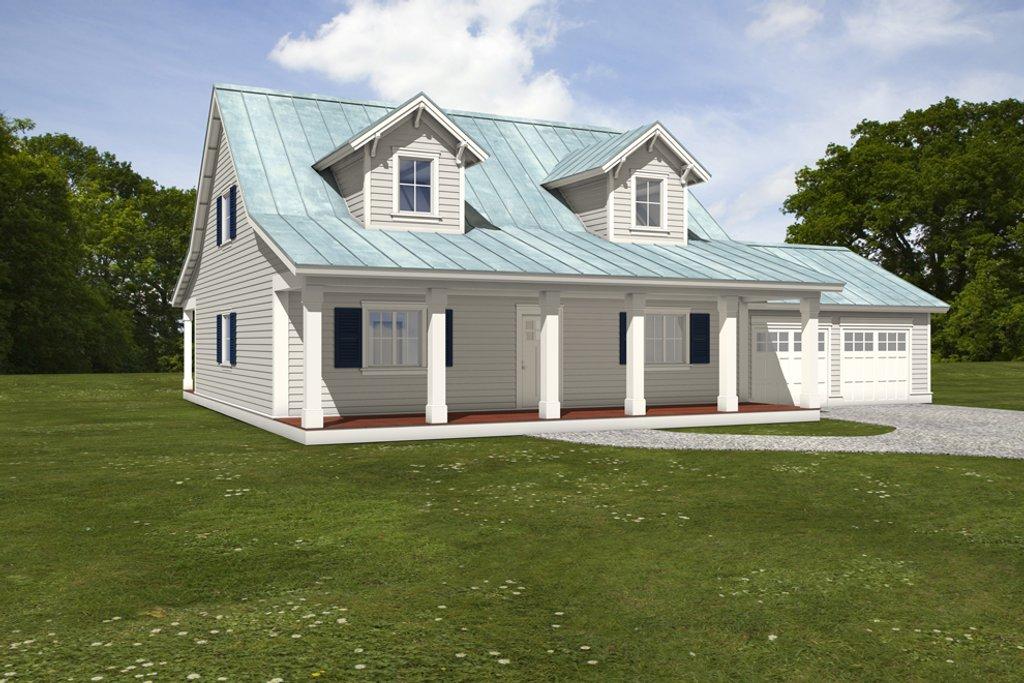 Farmhouse Exterior   Front Elevation Plan #497 9