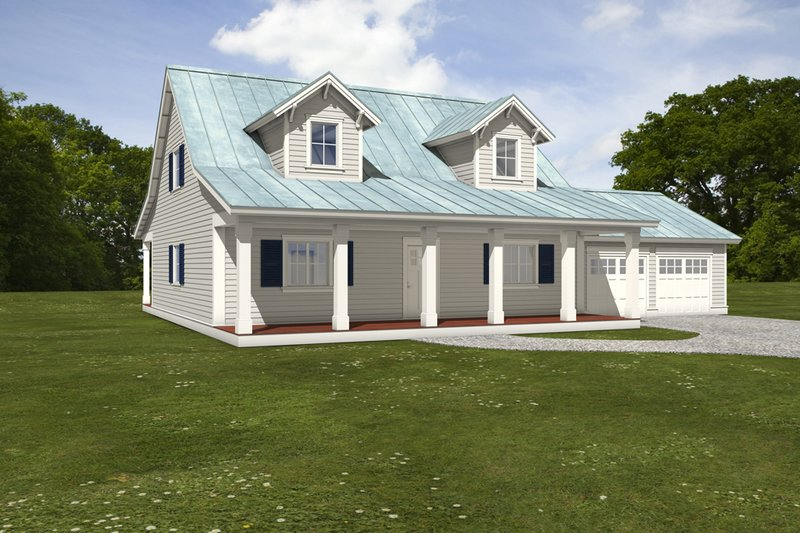 Dream House Plan - Farmhouse Exterior - Front Elevation Plan #497-9