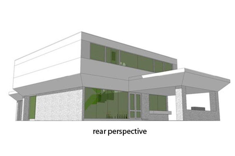 Modern Exterior - Rear Elevation Plan #64-206 - Houseplans.com
