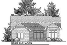 Dream House Plan - Bungalow Exterior - Rear Elevation Plan #70-904