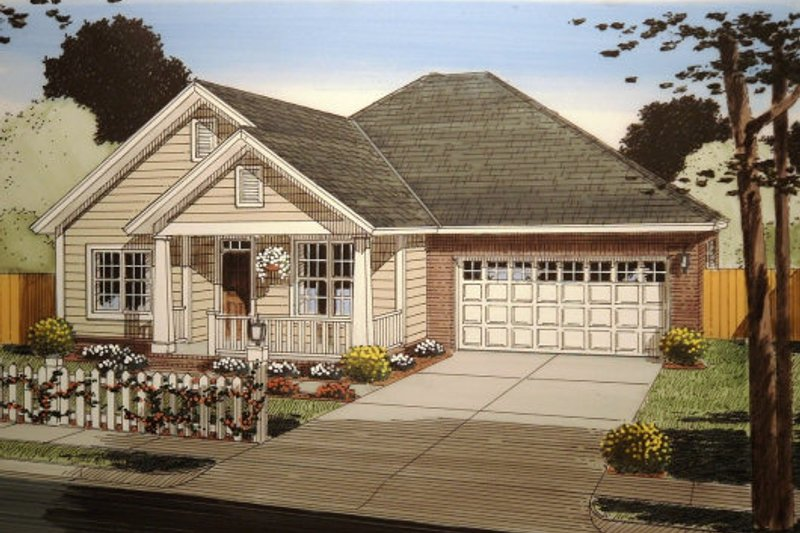 Traditional Exterior - Front Elevation Plan #513-7 - Houseplans.com