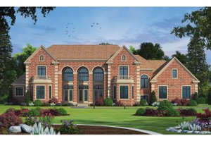 European Exterior - Front Elevation Plan #20-2378