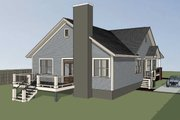 Farmhouse Style House Plan - 3 Beds 2 Baths 1720 Sq/Ft Plan #79-232 Exterior - Other Elevation
