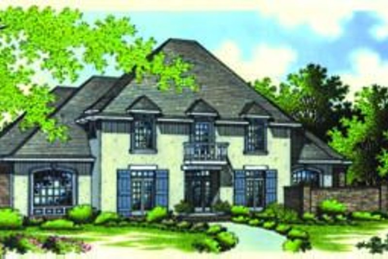 European Style House Plan - 4 Beds 3.5 Baths 2954 Sq/Ft Plan #45-210 Exterior - Front Elevation