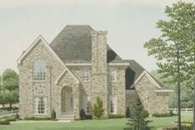Dream House Plan - European Exterior - Front Elevation Plan #410-410
