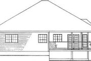 Country Style House Plan - 3 Beds 2 Baths 1506 Sq/Ft Plan #126-130 Exterior - Rear Elevation