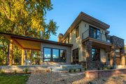 Contemporary Style House Plan - 4 Beds 3.5 Baths 3334 Sq/Ft Plan #1042-19 Exterior - Rear Elevation