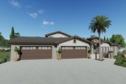 Adobe / Southwestern Style House Plan - 3 Beds 3.5 Baths 3546 Sq/Ft Plan #1069-22 Photo