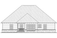 Dream House Plan - Craftsman Exterior - Rear Elevation Plan #21-212
