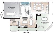 Traditional Floor Plan - Main Floor Plan Plan #23-2510