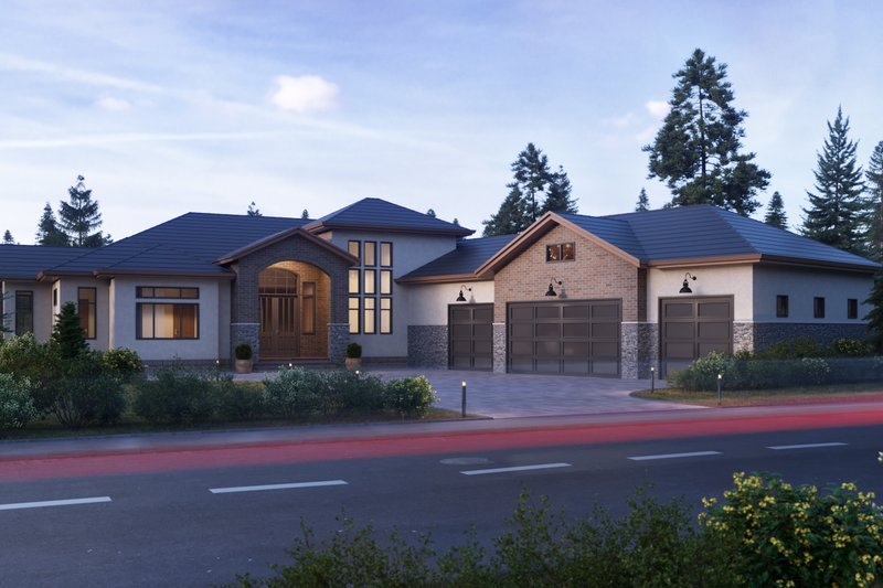 Dream House Plan - Traditional Exterior - Front Elevation Plan #1066-23