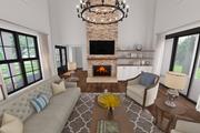 Farmhouse Style House Plan - 3 Beds 2.5 Baths 2060 Sq/Ft Plan #48-968 Interior - Family Room