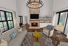 Farmhouse Interior - Family Room Plan #48-968