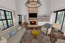 House Plan Design - Farmhouse Interior - Family Room Plan #48-968