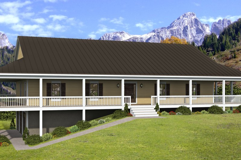 Home Plan - Country Exterior - Front Elevation Plan #932-308