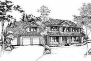 Traditional Style House Plan - 4 Beds 2.5 Baths 2865 Sq/Ft Plan #78-126 Exterior - Front Elevation