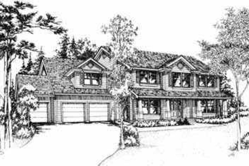 Traditional Style House Plan - 4 Beds 2.5 Baths 2865 Sq/Ft Plan #78-126