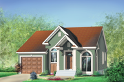 Traditional Style House Plan - 2 Beds 1 Baths 1029 Sq/Ft Plan #25-139 Exterior - Front Elevation