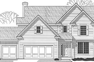 Traditional Exterior - Front Elevation Plan #67-164