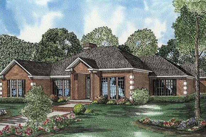 Architectural House Design - Traditional Exterior - Front Elevation Plan #17-583