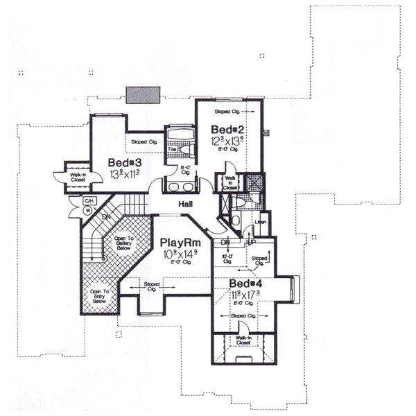 European Floor Plan - Upper Floor Plan #310-940