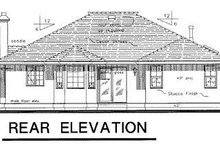 House Blueprint - Ranch Exterior - Rear Elevation Plan #18-137