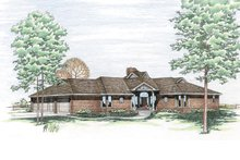 Home Plan - Traditional Exterior - Front Elevation Plan #20-101