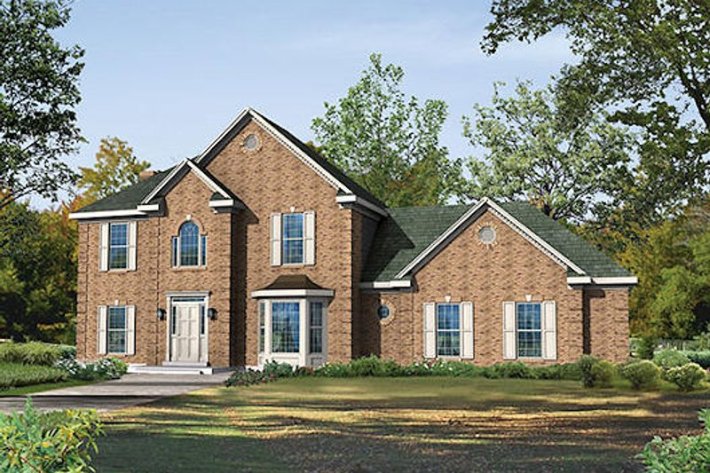 Colonial Exterior - Front Elevation Plan #57-265