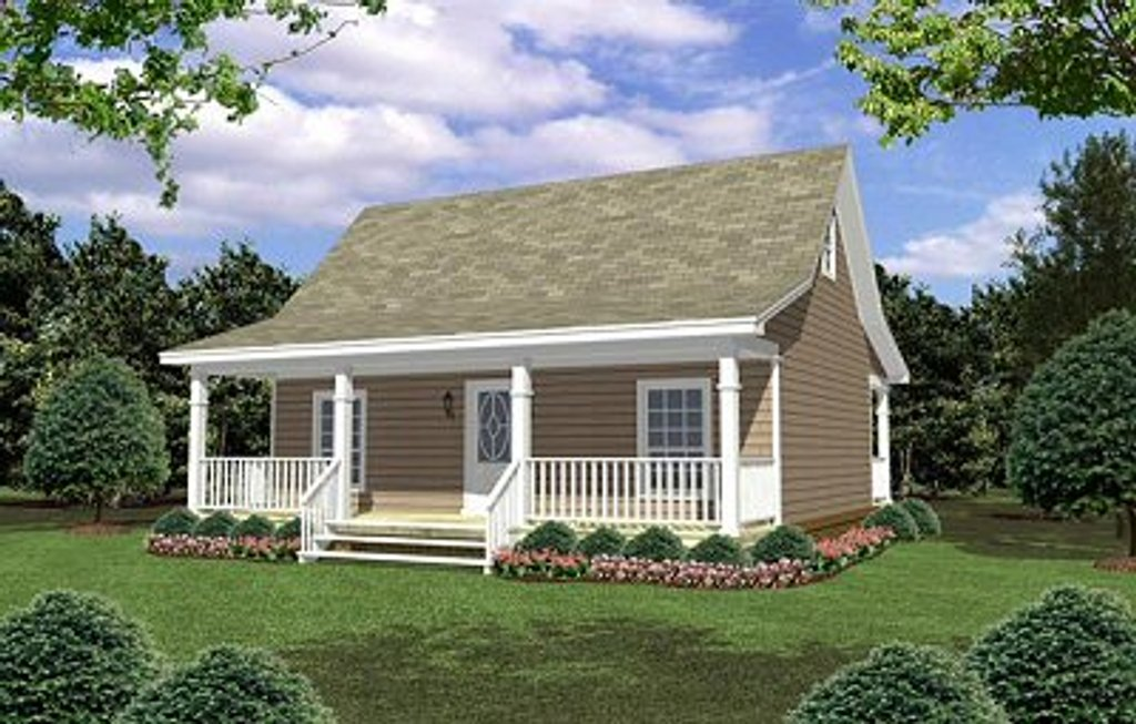 Cottage Style House Plan 2 Beds 1 Baths 800 SqFt