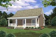 Cottage Style House Plan - 2 Beds 1 Baths 800 Sq/Ft Plan #21-211 Exterior - Front Elevation