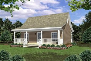 Architectural House Design - Cottage Exterior - Front Elevation Plan #21-211