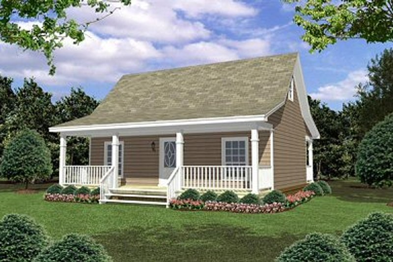 Cottage Exterior - Front Elevation Plan #21-211