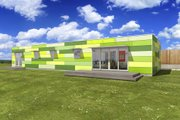 Modern Style House Plan - 2 Beds 1 Baths 1396 Sq/Ft Plan #497-27 Exterior - Front Elevation