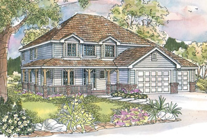 Farmhouse Exterior - Front Elevation Plan #124-529