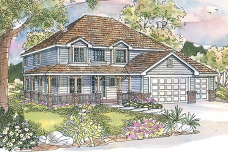 Dream House Plan - Farmhouse Exterior - Front Elevation Plan #124-529