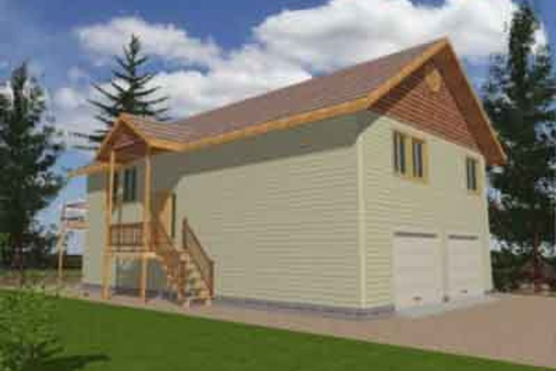 Traditional Exterior - Front Elevation Plan #117-170 - Houseplans.com