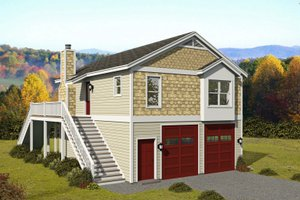 Contemporary Exterior - Front Elevation Plan #932-350
