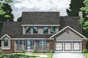 Traditional Style House Plan - 4 Beds 2.5 Baths 1984 Sq/Ft Plan #20-2021 Exterior - Front Elevation