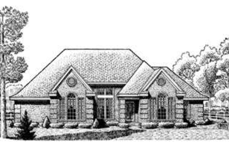 Home Plan - European Exterior - Front Elevation Plan #410-207