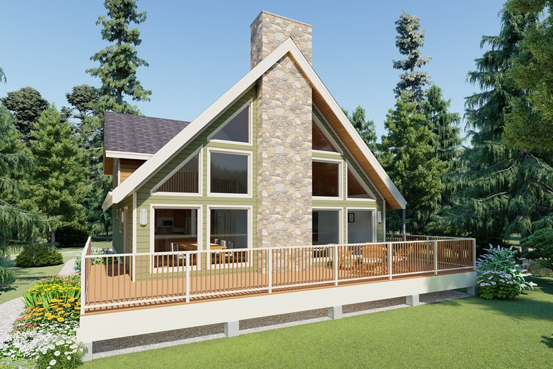 Contemporary Style House Plan - 3 Beds 2 Baths 2141 Sq/Ft Plan #126-147 Exterior - Front Elevation